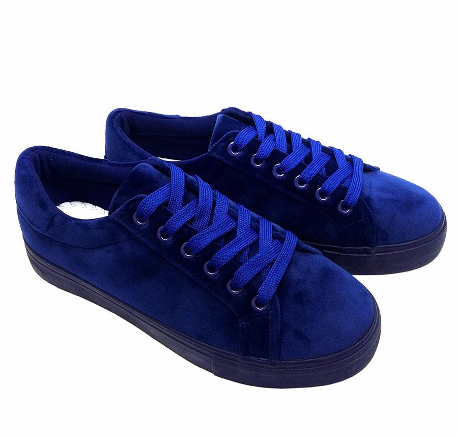 Классика - кеды (синий бархат)